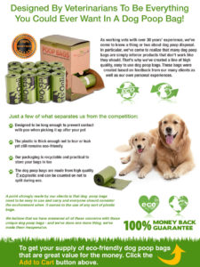100% recyclable dog poop bags